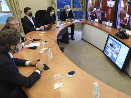 COVID-19 | Preocupado por una segunda ola, Alberto Fernández se reunió virtualmente con Gobernadores