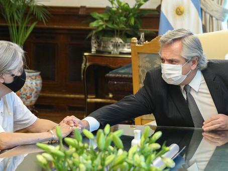"""""""Me voy totalmente contenta"""", dijo la madre de Úrsula tras la reunión con Alberto Fernández"""