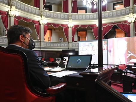 Bianco presentó el informe del Ejecutivo ante la Bicameral de la Legislatura
