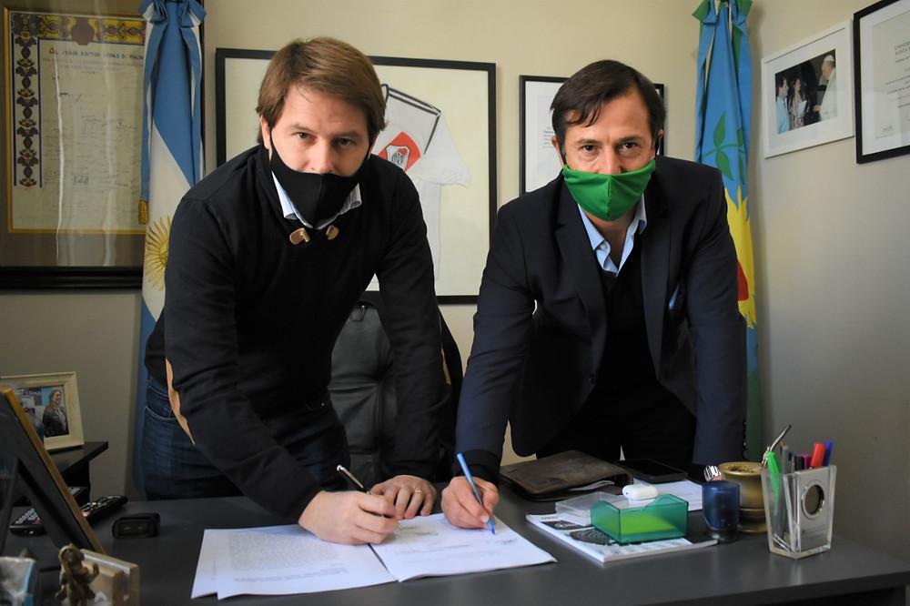 Diputados Daniel Lipovetzky y Alex Campbell.