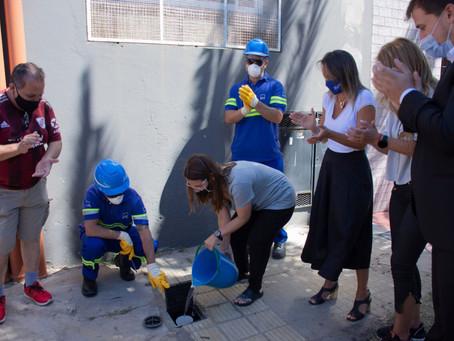 Avellaneda y Morón   AYSA inauguró redes cloacales