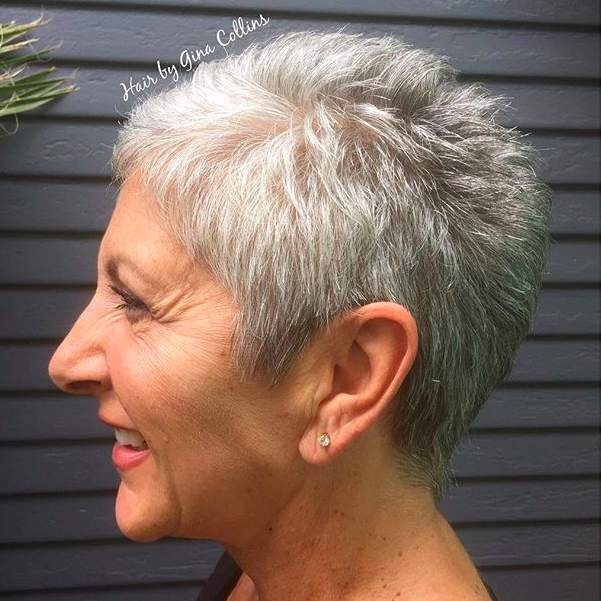 Short Grey Mature Hair