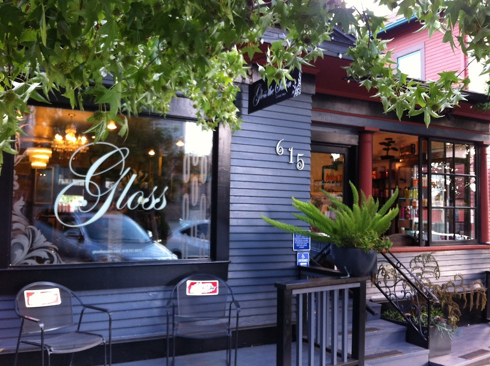 Front of Gloss the Salon in Little Italy San Diego
