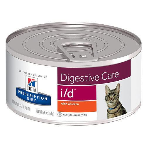 Hill'sPrescription Diet  i/d, Salud Gastrointestinal, Alimento para Gato, 156gr