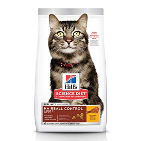 Hill's® Science Diet® Adult 7+ Hairball Control control de bolas de pelo 1.58 kg