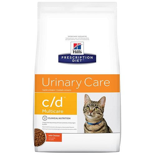 Hill'sPrescription Diet c/d, Cuidado Urinario, Alimento para Gato, 1.81kg