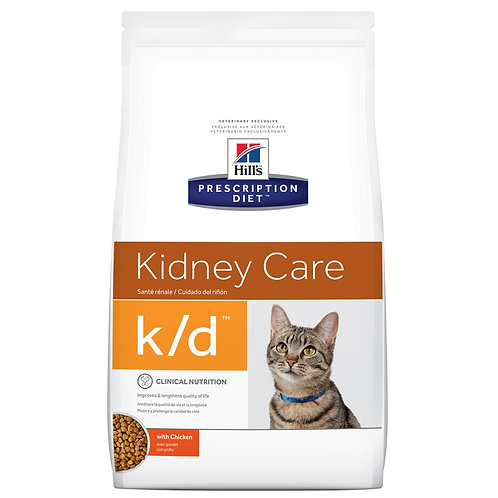 Hill's Prescription Diet k/d, Salud renal , Alimento para Gato, 1.81kg