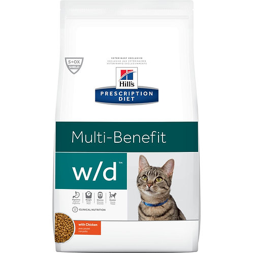 Hill's Prescription Diet w/d, control de peso y de la glucosa 1.8kg