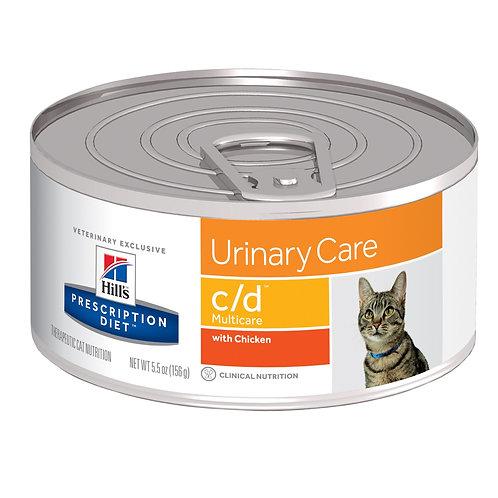 Hill'sPrescription Diet c/d, Cuidado Urinario, Alimento  para Gato, 156gr