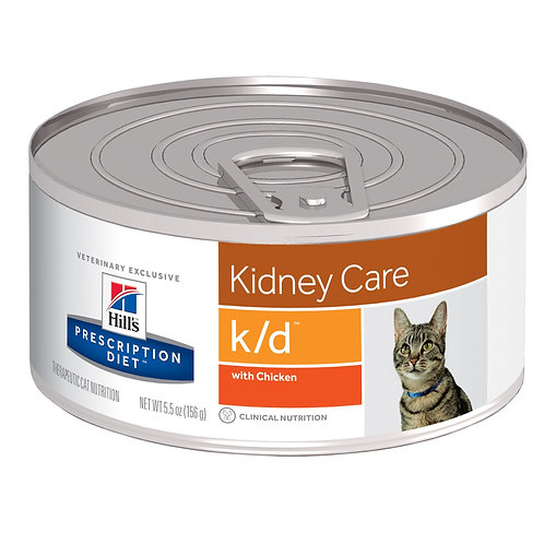 Hill's Prescription Diet k/d, Salud renal , Alimento para Gato, 155gr