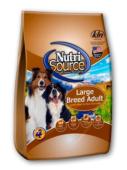 NUTRI SOURCE ADULTO LARGE BREED LAMB & RICE