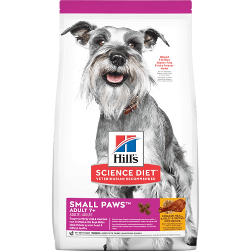 Hill's Science Diet Adult 7+ Small Paws, alimento para perros adultos 2.04 kg
