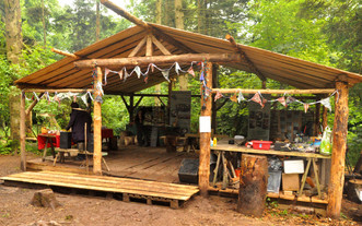 Woodlands shelter ready for a party