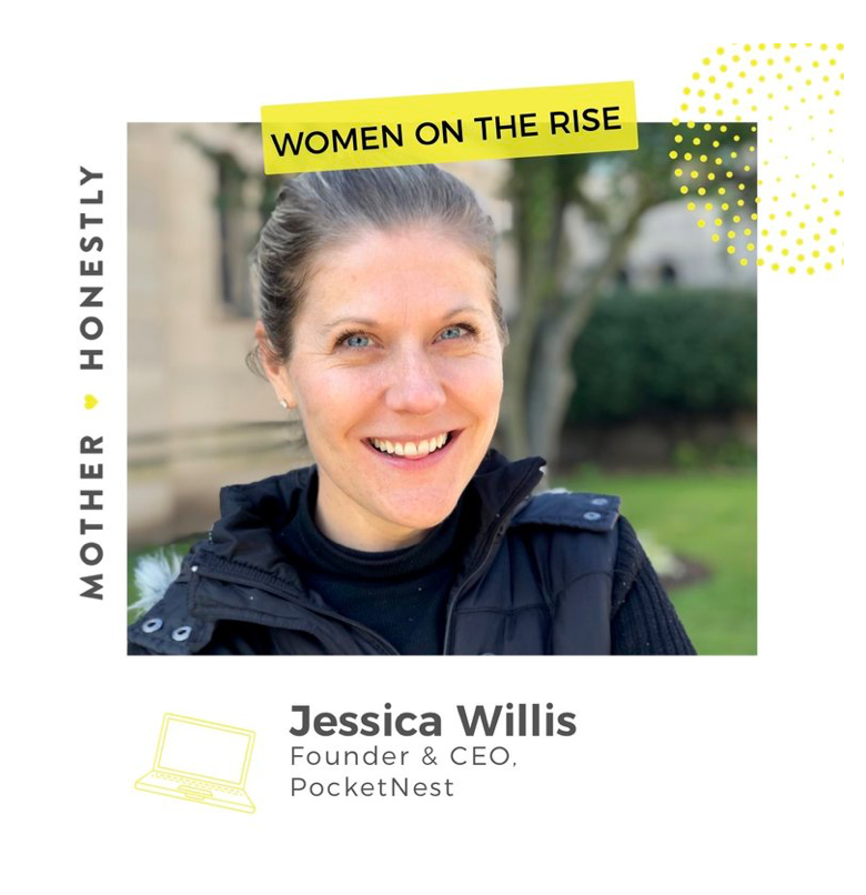 Mother Honestly cover of Jessica Willis, Woman on the Rise profile