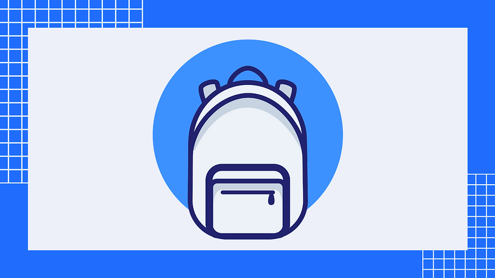 Icon of a backpack with straps