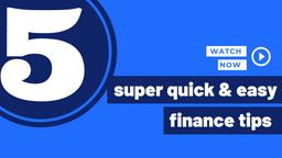 🖐 Quick & Easy Finance Tips | #FinWineChat