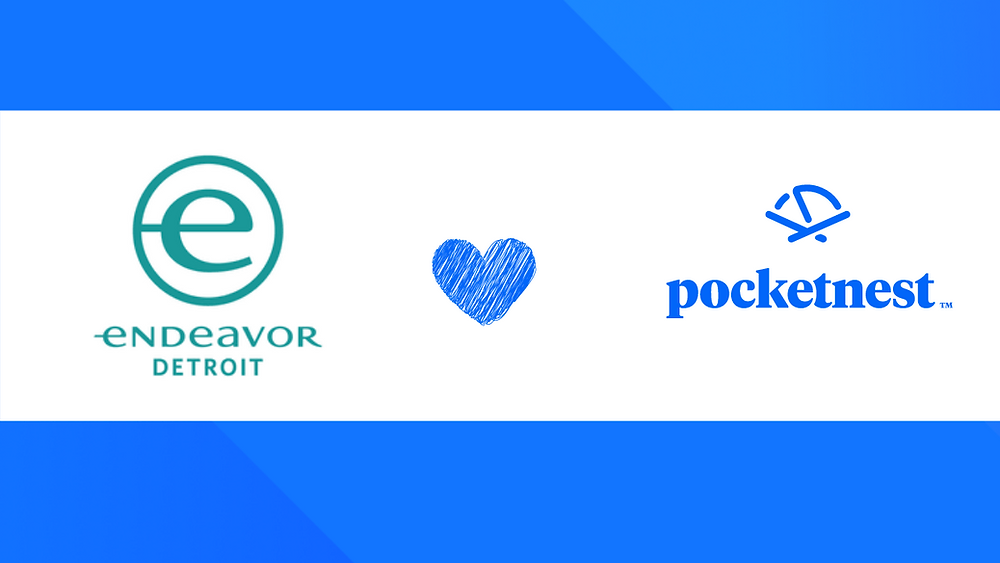 Endeavor Detroit, part of NYC-based Endeavor and Pocketnest logos
