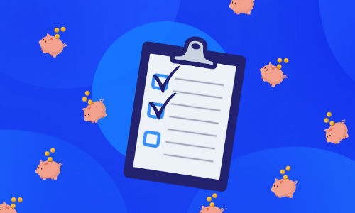Icon of checklist with items checked off