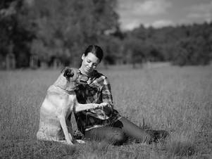 Christian_Hund mit Frauchen