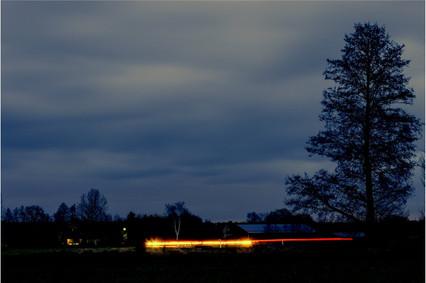 Lichterstreifen_Jürgen_Nachts auf der Landstrasse 2019