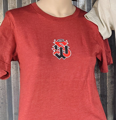 HEATHER RED TEE