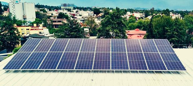Instalación de paneles solares para Medios México - Enersing
