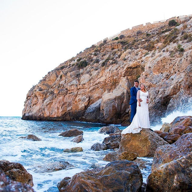 Fotografo postboda Granada playa