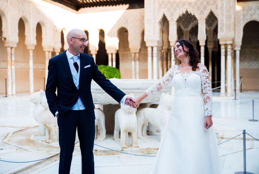 Fotografo de boda en la Alhambra