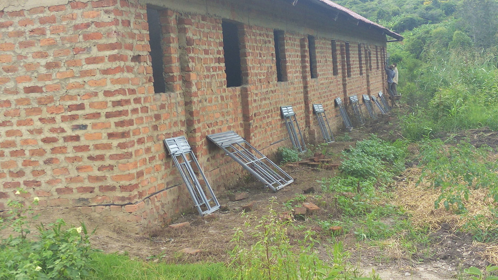 New secure steel windows for Anfield Primary School Kasambya