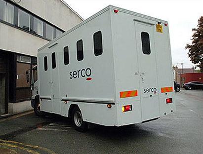 Hemel Hempstead court Serco prison van.jpg