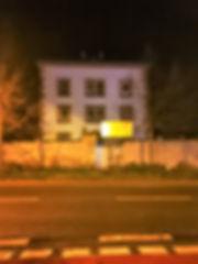 JVA Grossenhain prison at nightfall Febr