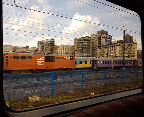 Premier Train approaching Johannesburg s