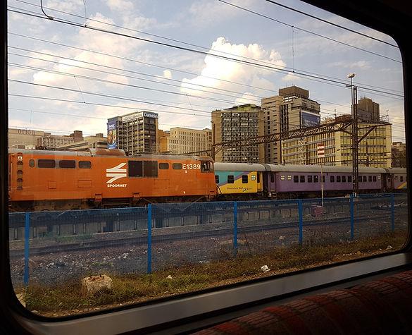 Premier Train approaching Johannesburg s