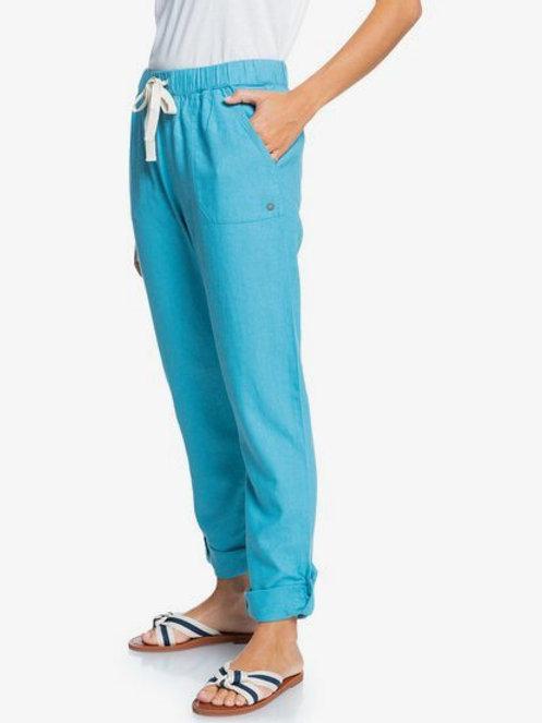 Roxy linen cargo pants