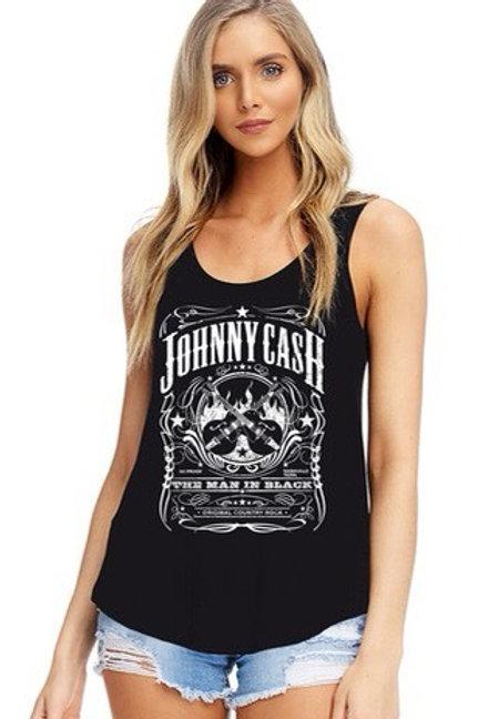 Johnny Cash printed tank top