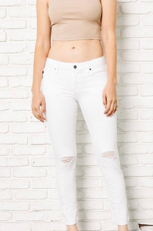 Kancan white destroyed skinny jean