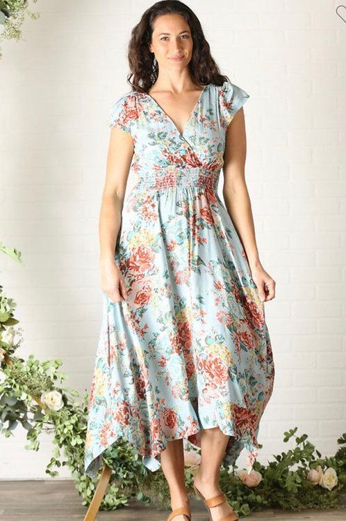 Nostalgia cap sleeve dress