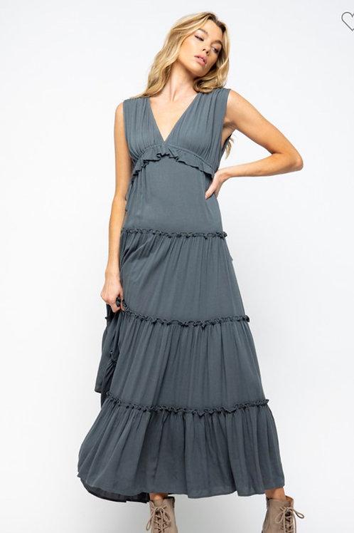 Charcoal maxi dress