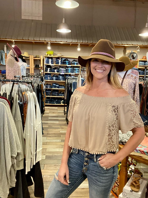 Panhandle slim off the shoulder top