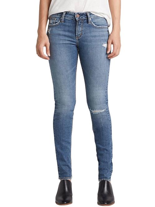 Silver Avery Slim Jean