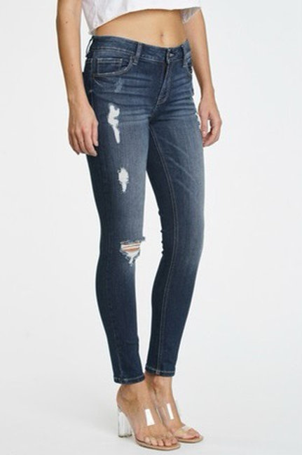 Eunia stretch denim skinny mid rise