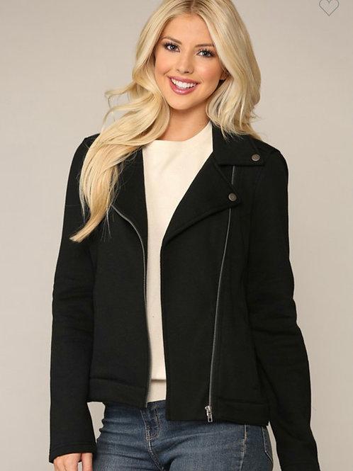 Fabric biker jacket