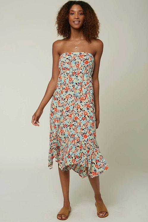 O'Neill ditzy floral strapless dress