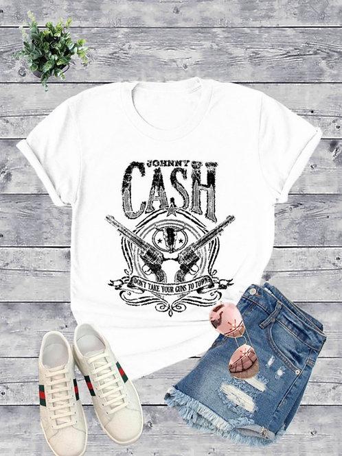 Johnny Cash crew neck tee