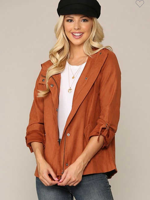 Button and zipper utility jacket