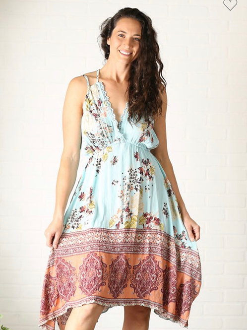 Angie floral strappy dress