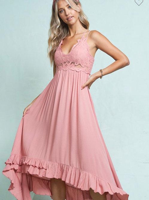 Hi low bralette dress