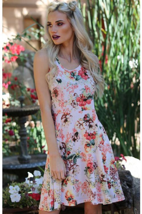 Super soft floral skater dress