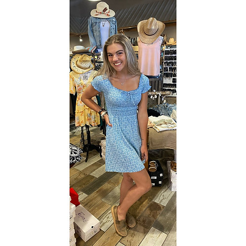 Roxy off the shoulder blue dress