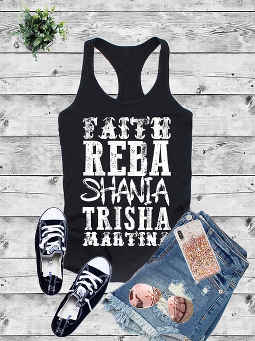 Faith Reba Shania tank